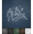 business footrest icon Hand drawn vector image vector image
