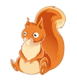 Cartoon orange Squirrel vector image