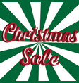 christmas sale banner template vector image vector image