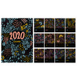 colorful monthly calendar for 2020 year vector image