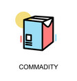 commadity icon and document box on white vector image