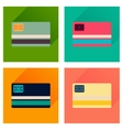 Concept of flat icons with long shadow bank card vector image vector image