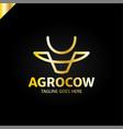 Cow or bull head simple line logo