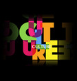 culture concept letters banner colorful logo vector image vector image