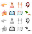 design of diet and treatment logo set of vector image