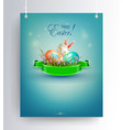 easter blue arrangement on pendants with eggs and vector image vector image