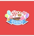Event Template Label Cute Sticker With Sweets vector image vector image