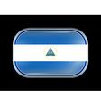 Flag of Nicaragua Rectangular Shape vector image vector image