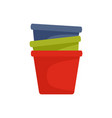 flowerpots icon flat style vector image
