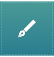 fountain pen icon vector image vector image