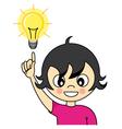 Girl with an idea vector image vector image