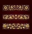 golden calligraphic ornaments vector image vector image