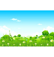 green landscape with trees vector image vector image