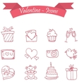icon of valentine day vector image vector image