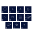 icon set with Planets and astrology symbols of pl vector image vector image