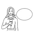 journalist with microphone coloring book vector image vector image