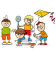kid boys children characters cartoon vector image vector image