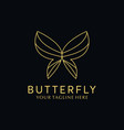 luxury simple butterfly logo vector image