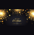 merry christmas background with sparklers vector image vector image