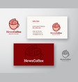 news coffee abstract logo and business card vector image vector image