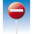 One way traffic board vector image