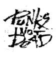 Panks not dead Cola pen calligraphy font vector image vector image