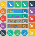 Pencil and ruler icon sign Set of twenty colored vector image vector image