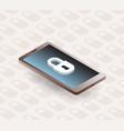 phone isometric gadget securuty vector image vector image