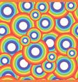 rainbow circle seamless pattern vector image vector image