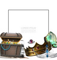 realistic pirate treasures concept vector image vector image