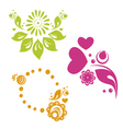 russian style floral designs vector image vector image