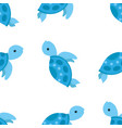 sea pattern turtle cartoon vector image