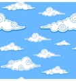 Seamless background with decorative clouds vector image