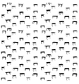 seamless pattern of table isolated vector image