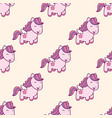 seamless pattern with pegasus in kawaii japanese vector image vector image