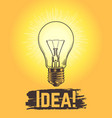 sketch light bulb new business and creative idea vector image