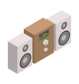 Sound system icon isometric 3d style vector image