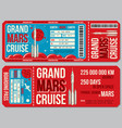 space travel boarding pass template vector image vector image