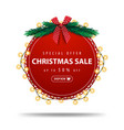 special offer christmas sale up to 50 off round vector image vector image