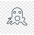 squid concept linear icon isolated on transparent vector image