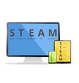 steam devices vector image