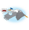 stork-new website vector image vector image
