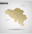 stylized belgium map vector image