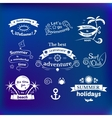 Summer signs set vector image vector image
