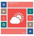 sun cloud icon elements for your design vector image