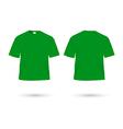 t shirt green vector image vector image