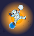 the astronaut in outer space vector image vector image