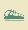 train icon in grunge style vector image vector image