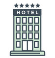 travel and stay hotel isolated icon five star vector image