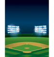 Vertical Baseball Stadium vector image vector image